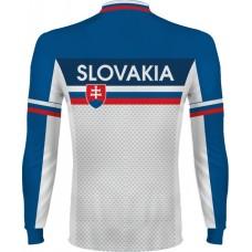 Cyklo dres Slovensko - dlhý rukáv - royal modrá