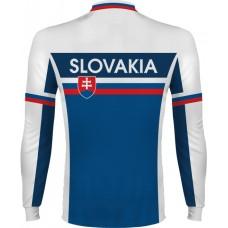 Cyklo dres Slovensko - dlhý rukáv - biela