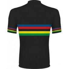 Dúhový cyklo dres - čierna