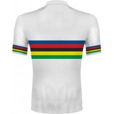 Dúhový cyklo dres - biela