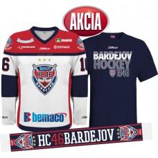 AKCIA Dres + tričko + šál  HC 46 BARDEJOV 2015/16
