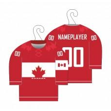 Minidres Kanada - červená