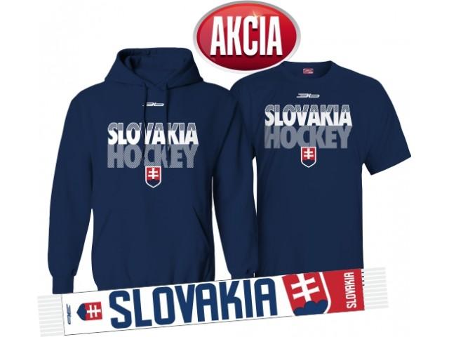 AKCIA SLOVENSKO HOCKEY - Mikina + tričko + šál LEN 33,33 €