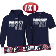 AKCIA HC 46 BARDEJOV - Mikina + tričko + šál LEN 33,33 €