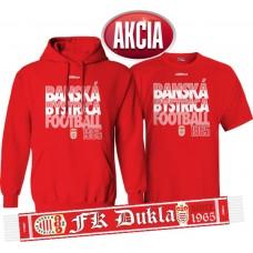 AKCIA  FK DUKLA BANSKÁ BYSTRICA - Mikina + tričko + šál