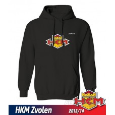 Detská mikina s kapucňou a výšivkou HKM Zvolen 2013/14 - čierna