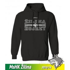 Bavlnená detská mikina s kapucňou MsHK Žilina 2013/14 - čierna
