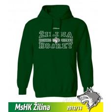 Bavlnená detská mikina s kapucňou MsHK Žilina 2013/14 - zelená