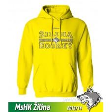 Bavlnená detská mikina s kapucňou MsHK Žilina 2013/14 - žltá