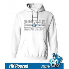 Detská mikina s kapucňou HK Poprad 2013/14 - biela