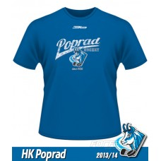 Detské tričko HK Poprad 2013/14 - retro - royal modrá