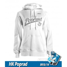 Dámska bavlnená mikina s kapucňou HK Poprad 2013/14 - biela