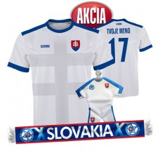 Slovak football jersey with name and number + scarf + minijersey JUST 33,33€