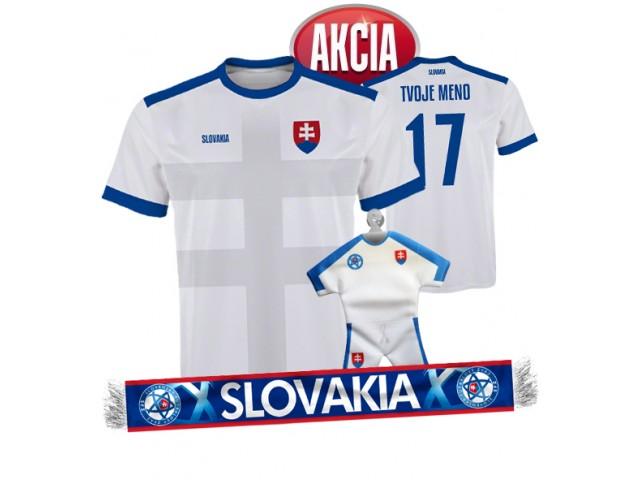 Slovenský futbalový dres s menom a číslom + šál + minidres LEN 33,33 €