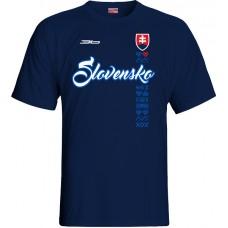 Tričko SLOVENSKO NEW 5 - modrá–tmavomodrá