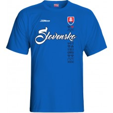 Tričko SLOVENSKO NEW 5 - royal modrá