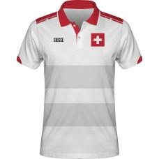 Sublimovaná polokošeľa Švajčiarsko vz. 6