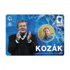 Pamätná karta s mincou Ján Kozák