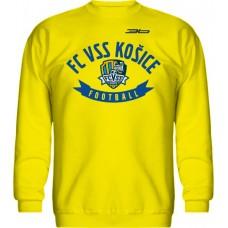 BAVLNENÁ MIKINA BEZ KAPUCNE FC VSS KOŠICE VZ. 1 - svetlo žltá