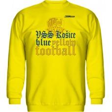 BAVLNENÁ MIKINA BEZ KAPUCNE FC VSS KOŠICE VZ. 5 - žltá