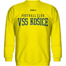 BAVLNENÁ MIKINA BEZ KAPUCNE FC VSS KOŠICE VZ. 6 - žltá