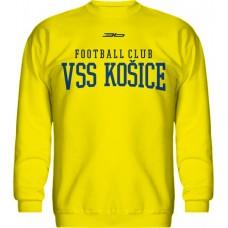 BAVLNENÁ MIKINA BEZ KAPUCNE FC VSS KOŠICE VZ. 6 - svetlo žltá
