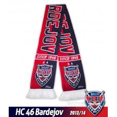 Pletený šál HC Bardejov 2013/14