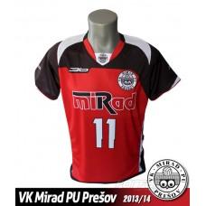 Volejbalový dres VK PU Mirad Prešov 2013/14 - tmavá verzia
