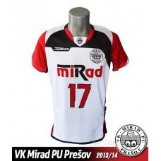 Volejbalový dres VK PU Mirad Prešov 2013/14 - svetlá verzia