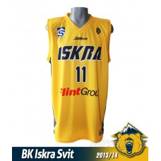 Basketbalový dres Iskra Svit 2013/14 svetlá verzia