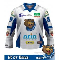 Hokejový dres HC 07 Detva REPLICA SIMPLE 2013/14 - svetlá verzia