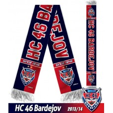 Šál HC 46 Bardejov 2013/14 - verzia 1