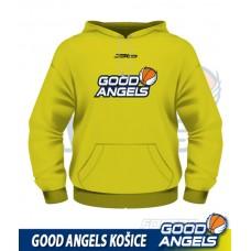 Mikina Good Angels (s kapucňou), žltá