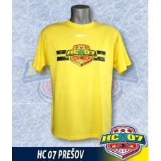 Bavlnené tričko HC 07 Prešov žlté