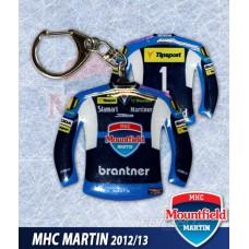 Prívesok dres MHC Martin tmavá vz. - číslo 1 /vzadu/