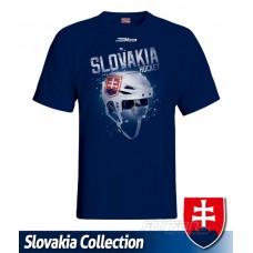 Tričko SLOVENSKO 9 - modrá–tmavomodrá