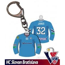 Prívesok dres HC Slovan Bratislava belasý