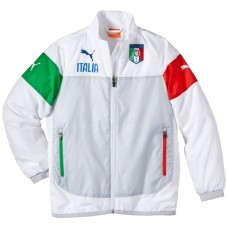 FIGC Italia Leisure Jacket white - poinset