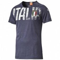 FIGC Italia Azzurri Badge Tee Peacoat