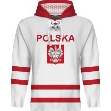 Sublimovaná mikina s kapucňou Poľsko svetlá