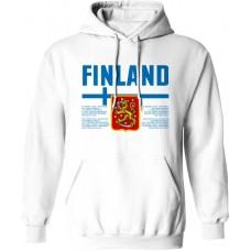 Mikina s kapucňou Fínsko vz. 1 - biela