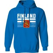 Mikina s kapucňou Fínsko vz. 1 - royal modrá