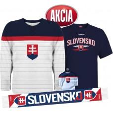 Action 1 - Jersey Slovakia + T-shirt + Scarf + Minijersey