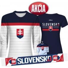 Dámska AKCIA 3 - Dres Slovensko + Tričko + Šál + Minidres