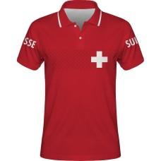 Sublimovaná polokošeľa Švajčiarsko vz. 1