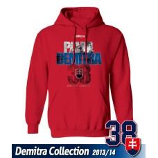SLOVENSKO Mikina s kapucňou Pavol Demitra 19 - červená