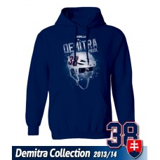 SLOVENSKO Mikina s kapucňou Pavol Demitra 20 - modrá–tmavomodrá