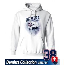 SLOVENSKO Mikina s kapucňou Pavol Demitra 20 - biela