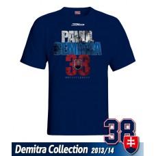 SLOVENSKO Tričko Pavol Demitra 19 - modrá–tmavomodrá