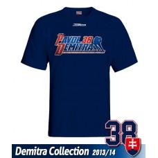 SLOVENSKO Tričko Pavol Demitra 23 - modrá–tmavomodrá